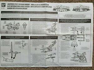 Power Rangers Lightspeed Rescue  - Rescue Speeder &Lightspeed Cycle INSTRUCTIONS