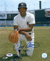 DELL ALSTON SIGNED AUTOGRAPHED 8x10 PHOTO + 79 WSC NEW YORK YANKEES PSA/DNA