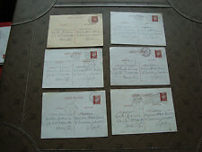 FRANCE - 6 cartes entier annee 40 (cy26) french