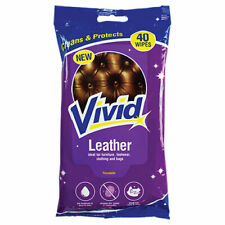 40 Leather Cleaning Wipes Protects Sofa Chair Car Care Seat Shine