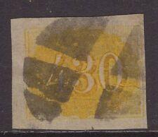 Brazil yellow 430 1854 issue sg 28 Cv £150+