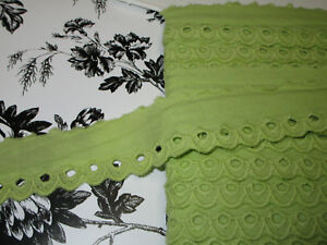 19 Yds Green And Yellow Like Lemon Cotton Venise Lace