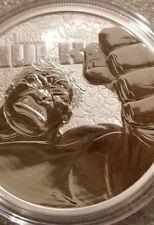 Incredible Hulk 1 oz .999 Silver Marvel Series $1 Coin David Bannister Avengers