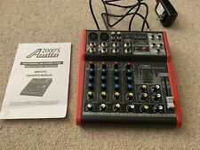 Audio2000s AMX7312 6-Ch.Audio Mixer with USB and DSP Processorh-New,O
