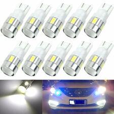 10pcs T10 501 W5W Energy Saving 6 LED 5630 CREE Car Side Light Durable Bulb
