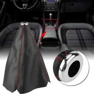 Black PU Leather Car Gear Shift Stick Gaiter Boot Dust Proof Car Cover Universal