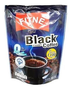 Fitne Black Coffee Instant Mix 0%Sugar Coenzyme Q10 Weight Loss Diet 10 sticks