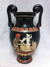 AJAX & CASSANDRA Antique Greek Revival Amphora Hand Painted Pottery Replica Vase