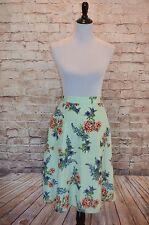 Modcloth Profound Pizzazz Skirt Green Garden NWOT Floral Sz 2x $60 mint