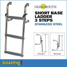 3 Steps Short Base Boat Ladder Stainless Steel - Oceansouth
