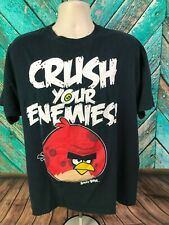 Angry Birds Men's Graphic T-Shirt Size XL Black 100% Cotton