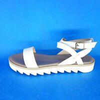CAIMAN Damen Sandalen Sandaletten Schuhe LIZZY Gr 39 41 Weiß Leder NP 105 NEU