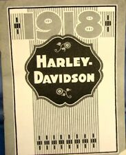 1918 Harley-Davidson Sales Brochure Covering The Model  18-J,18-F Sidecar 18-C-m