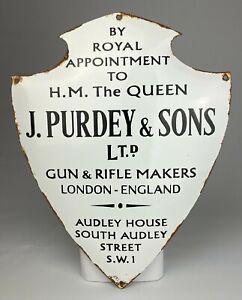 REPRODUCTION ANTIQUE ENAMEL SIGN – JAMES PURDEY & SONS, LONDON