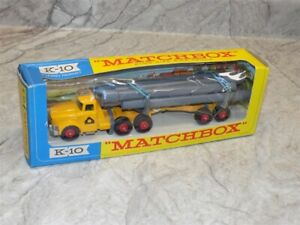 Vintage Kingsize Matchbox #K-10 Pipe Truck Construction Toy IN BOX #1