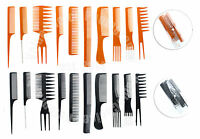 10 Piece Pro Salon Hair Styling Hairdressing Plastic Barbers Brush Combs Set