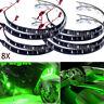 8x 300cm 15 SMD 3528 LED Car Bike Flexible Light Strip Lamp Waterproof 12V Green