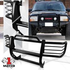Black Mild Steel Grille/Brush/Headlight Guard for 98-04 Chevy S10 Blazer/Sonoma