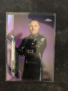 2020 Topps Chrome Formula 1 Valtteri Bottas #2 Purple Refractor 362/399 MERCEDES