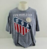 FIFA World Cup 2014 Brasil USA Gray T-Shirt Men's XL