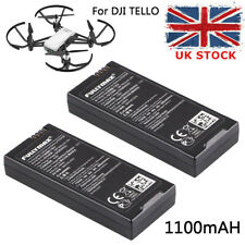 2 Pcs 1100mAh 1S 3.8V Li-po Battery for DJI Tello RC Quadcopter Drone Battery