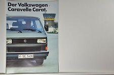 VW Volkswagen Bus T3 Caravelle Carat Prospekt 08/1985