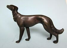 Antique  Solid Bronze Russian Wolfhound Borzoi Dog standing