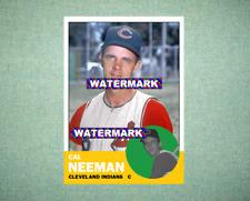 Cal Neeman Cleveland Indians 1963 Style Custom Baseball Art Card