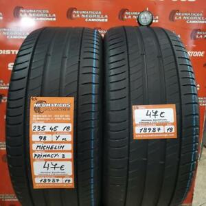2 x 235 45 R 18 98Y XL 4.4mm + 4.4mm DOT19/18 Michelin Primacy 3 Ref. 18987