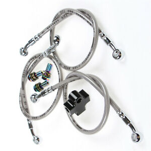 3 Way Tubing Bracket Hydraulic Brake Hose Pipe Tee Connector For Motorcycle ATV