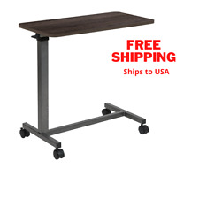 Multipurpose Adjustable ,Heavy-Duty Mobile Overbed Table for Home/ Hospital Use