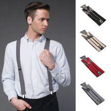 1Pc Unisex Y-back Suspender Elastic Clip-On Braces Adjustable Clip Braces Strap