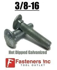 3/8-16 Hot Dipped Galvanized Carriage Bolts Coach Bolts - Select Length & Qty