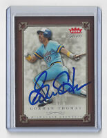 2004 BREWERS Gorman Thomas signed card Fleer Greats Game #58 AUTO Autographed