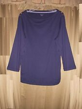 1X Nautica Woman Pull-on Tee Top Knit Navy Casual LS Button-trim NWT 1X $54.50