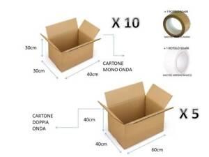 10 84x28x60 Kit Scatola Per Imballaggio Spedizione Trasloco