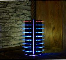 VU-Meter Equalizer LED DJ Disco Lichter Blau Laser Cut Licht Effekte Beleuchtung