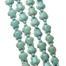 24 Pcs Natural Turtle Shape Turquoise Spacer Charm Loose Beads 14x18 mm Jewelry