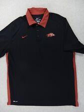 New listing Arkansas Razorbacks Nike Dri-Fit Polo Shirt (Mens XL) Black