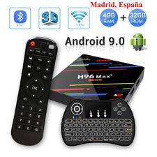 H96 Max Plus Android 9.0 Tv Box RK3328 4GB 64GB Dual Wifi Full 1080P Con Teclado