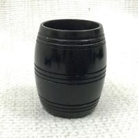 Antique Wooden Jar Turned Pot Barrel Victorian Ebony Treen 19th Century