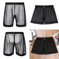 UK - Men Mesh Pants Sport Shorts Running See-through GYM Racing Short Underwear