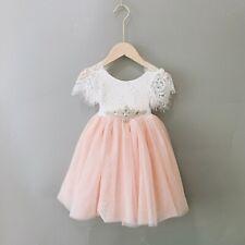Blush Pink Flutter Sleeve Couture Long Bohemian Flower Girl Occasion Dress