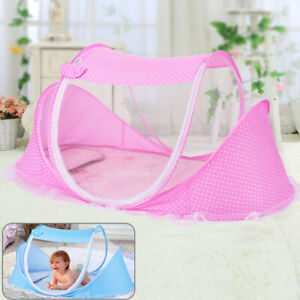 Foldable Baby Mosquito Net Canopy Bed Summer Camping Travel Cot Tent Crib Pillow