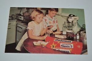 Nice Vintage HOLSUM White Bread Peanut Butter & Jelly Kids Funny Postcard 1980