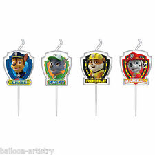 4 Paw Patrol Puppy Pets Birthday Party Cake Decoration Mini Figurine Candles