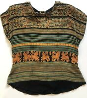 Marsha Brander For Componix Vintage Women's Top Made In USA Sz 12 Short Sleeve