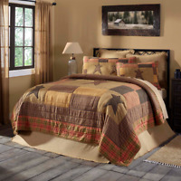 STRATTON QUILT SET - choose size & accessories - Primitive Star Plaid VHC Brands