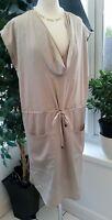 Gok For TU Size 12 Dress Beige Tie Waist Dress - Silky Stunning - Lined