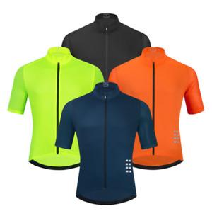in jersey estivo maglia da ciclismo da bicicletta a manica corta traspirante da uomo per MTB abbigliamento sportivo di alta qualit/à colore nero Weimostar